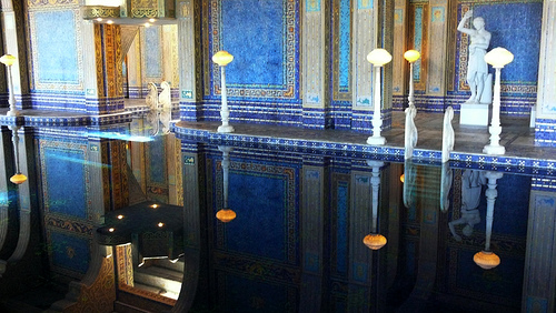 Indoor pool reflection 2 at Hearst Castle