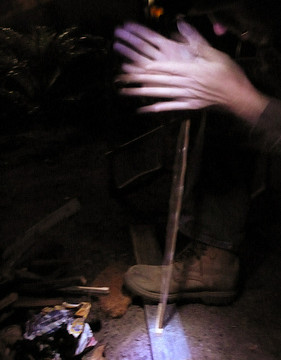 Introducing Man Crafts: Making Fire with Sticks