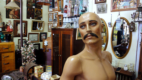 Photo Saturday: Mopey Mustachioed Montreal Mannequin