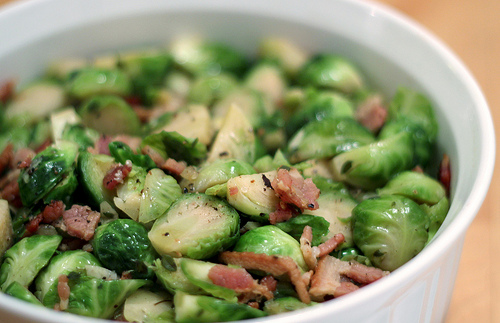 Cooking: Brussels Sprouts with Bacon & Thyme