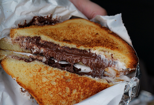 Dessert Melt: Nutella, PB, Marshmallow