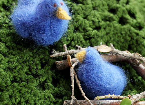 Needle-Felting Project: Bluebirds