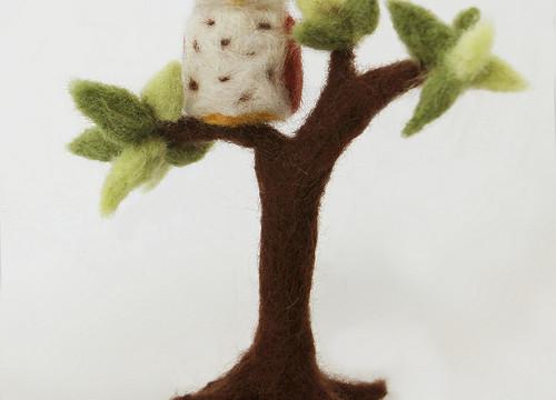 Newly Needle-Felted Owl Pal