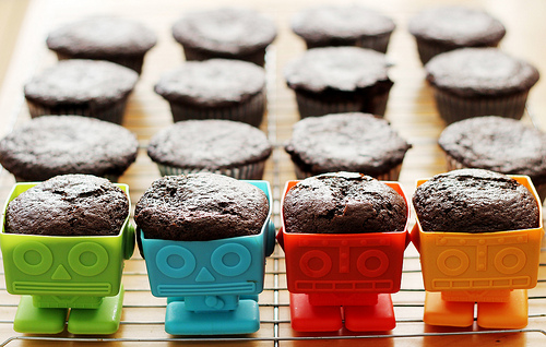 Chocolate Yumbot Cupcakes, Take Me Away