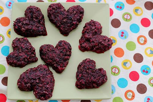 Heart/Beet Cookies