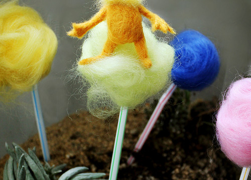 Needle-Felted Lorax (Happy Birthday Dr. Seuss!)
