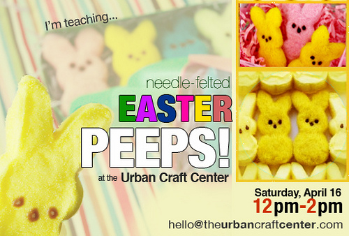 Peep this: I'm Teaching a Needle Felting Class