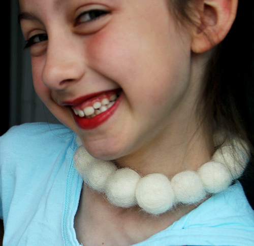 Felted Pearl Necklace