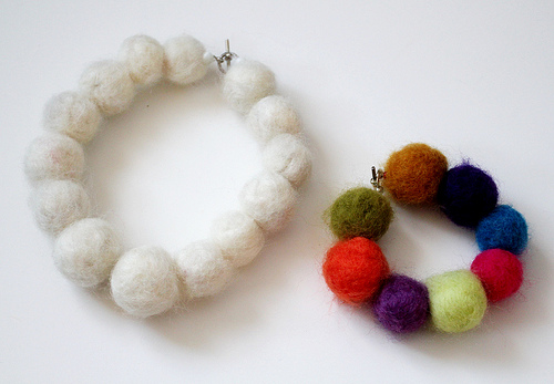 Fancy Felted Necklace and Bracelet
