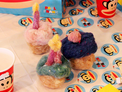 Needle-Felted Cupcakes
