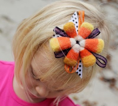 Needle-Felted Candy Corn Headbands