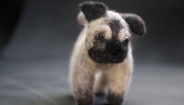 Needle-Felted Pug: Mom's Best Friend