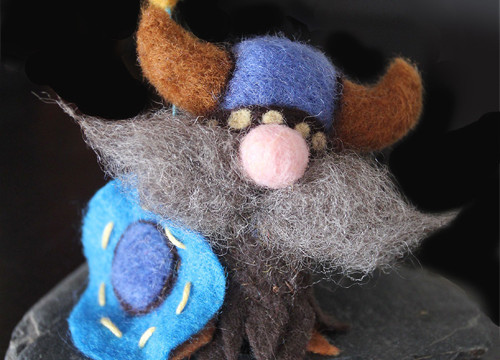 Needle-Felted Vikings: Beware the Adorableness!