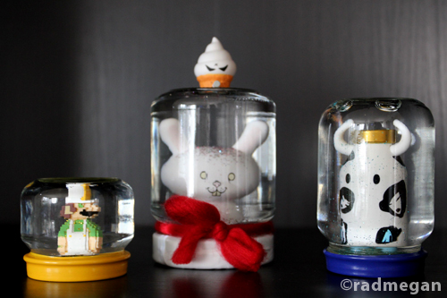 Making Snow Globes with Vinyl Toys