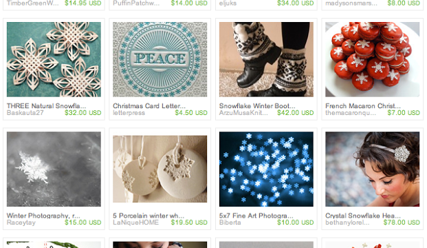 No 2 Alike! A Snowflake-Inspired Etsy Treasury