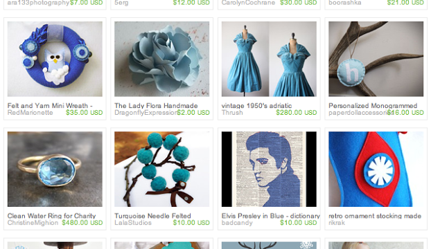 Blue Christmas: An Etsy Treasury