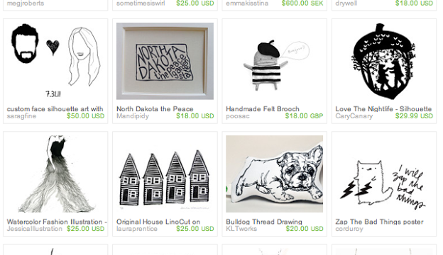 The Thin Black Line: An Etsy Treasury