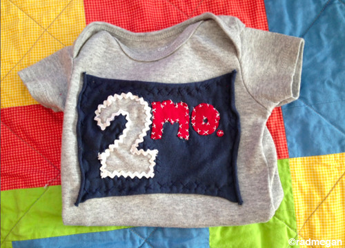 Two-Month Birthday Onesie for Little Lars