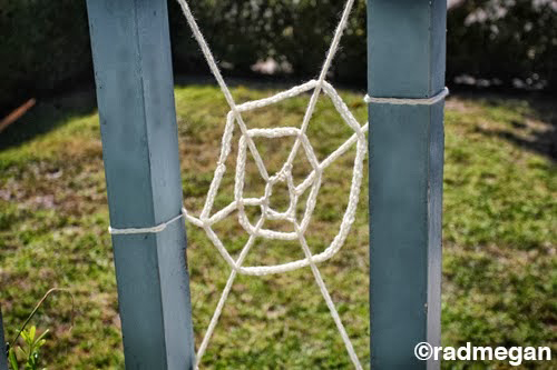 Knitting Fork Projects - Spooky Spider Webs for Halloween by Radmegan
