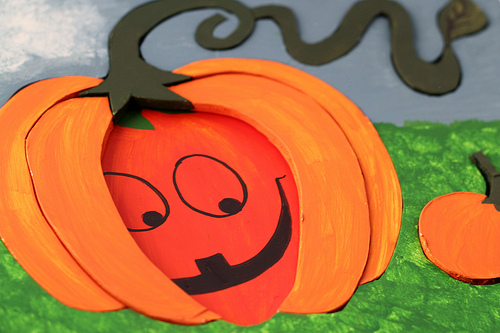 Craft: Foam Board Pumpkin Puzzle