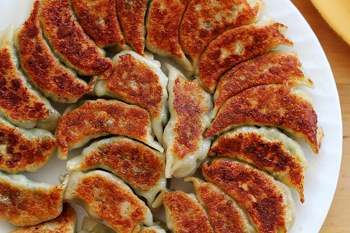Chinese Potstickers on American New Year's
