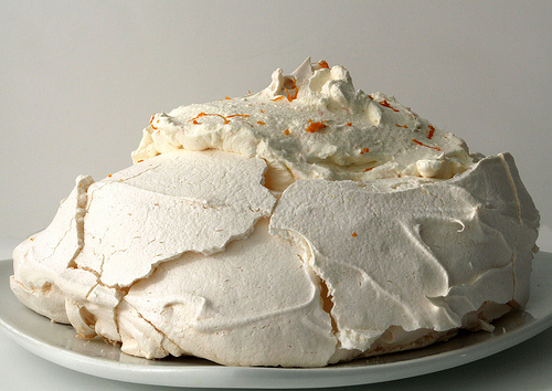 Baking Pavlova with Citrus Chantilly Cream