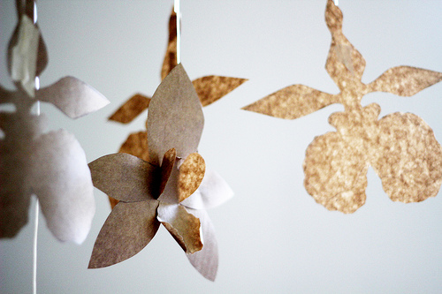 Paper Orchids for an Engagement Shoot