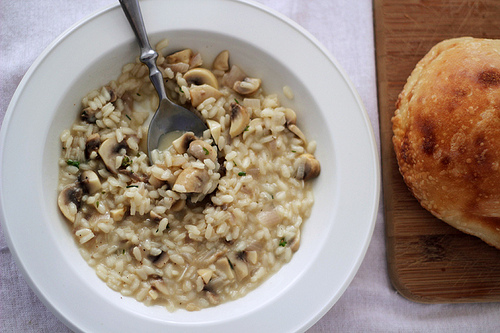Mushroom Risotto with Flowering Thyme