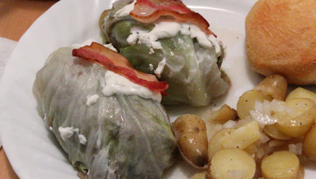 Viennese Cabbage Rolls and Potato Salad