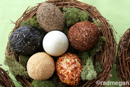 Seeds, Tea and Herbs, Oh My! Making Textured Easter Eggs