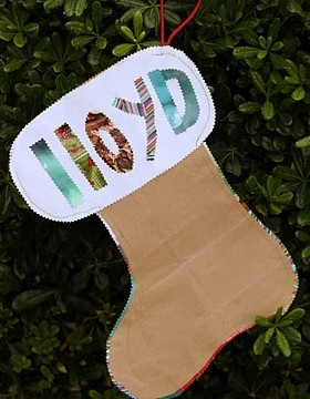 Crafting a Paper Bag Stocking