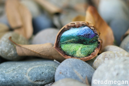 Small Crafts: Nestled Needle-Felted Landscapes