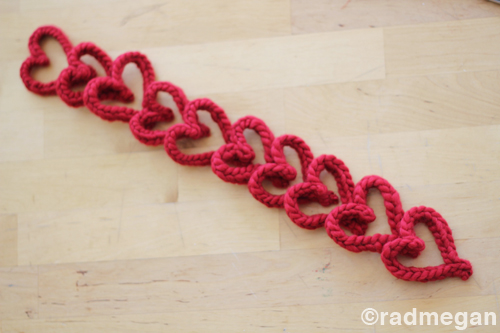 Knitting Fork Project: Easy Knitted Hearts