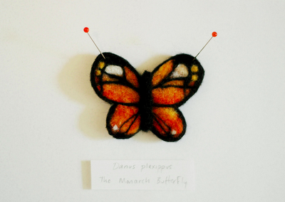 Felted & Framed: The Monarch Butterfly
