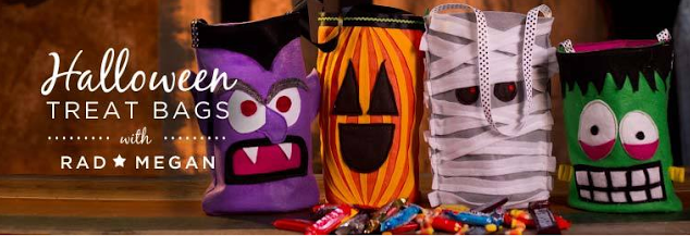 Easy-Sew Trick-Or-Treat Bags!