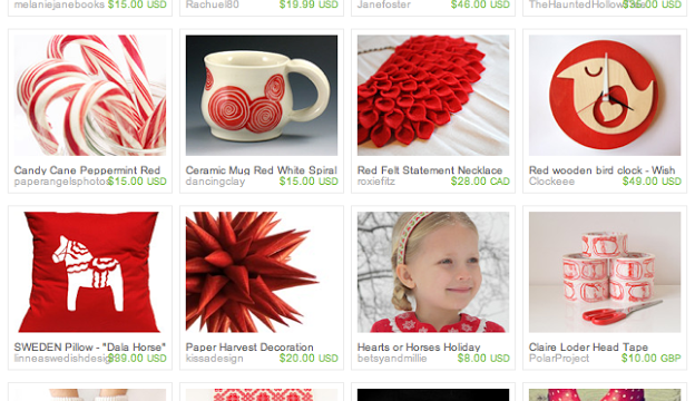 Red and White Gift Guide: An Etsy Treasury