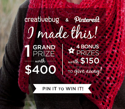 Creativebug + Pinterest = CONTEST!