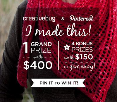Creativebug + Pinterest = CONTEST!