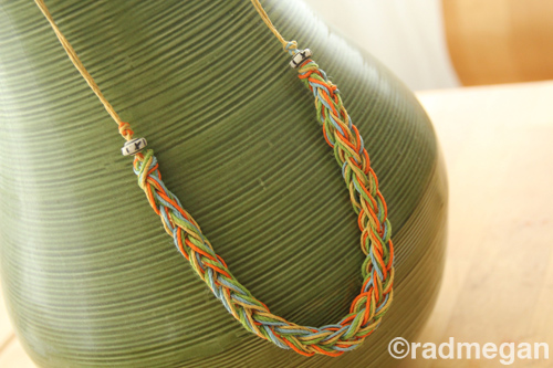 Knitting Fork Summer Necklace