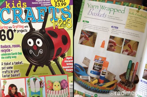 New Article in Kids Crafts 123: Yarn Wrapped Baskets