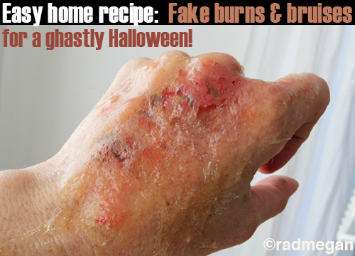 Easy Home Recipes: Fake Burns & Bruises for Halloween
