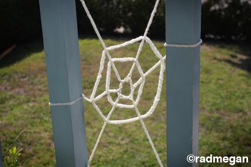 Radmegan Knitting Forks for Sale + a DIY Halloween Spider Web