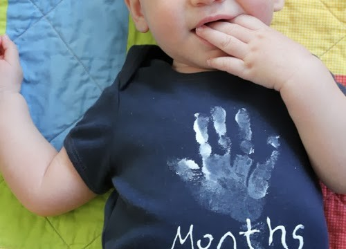 The Five-Month Onesie: A (Sort of Spooky) Handprint
