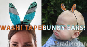 washi tape bunny ears easter decorations radmegan