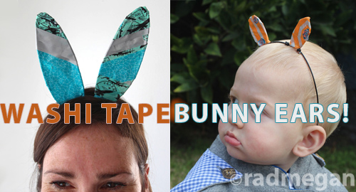 Washi Tape Bunny Ears for eHow.com