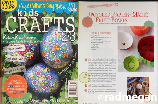 Cut Fruit Paper Maché Bowls for Kids Crafts 123
