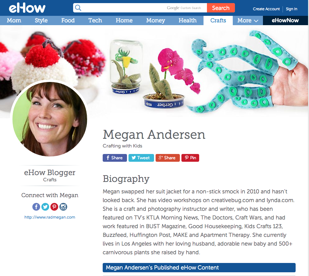 radmegan blogs for eHow