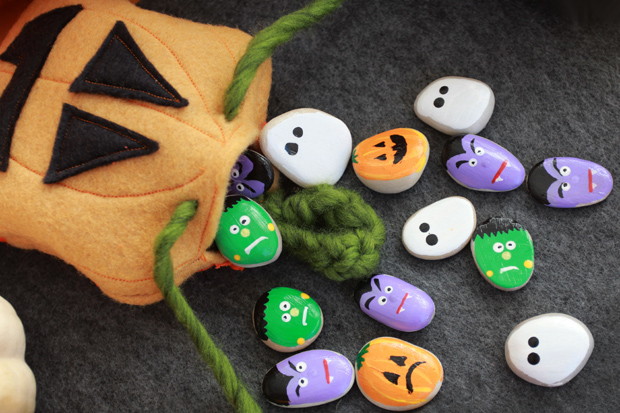 PaintedRockHalloweenGame-gamepiecesinbag-eHow