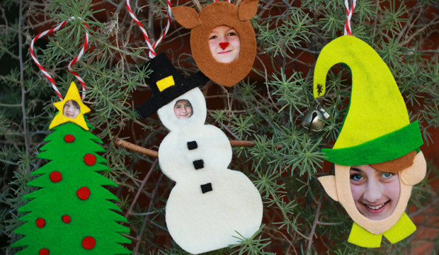 JibJab Inspired Felt Photo Ornaments