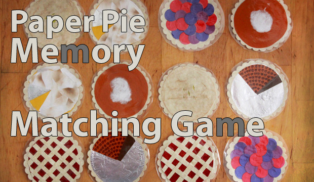 Paper Pie Matching Game for Thanksgiving!